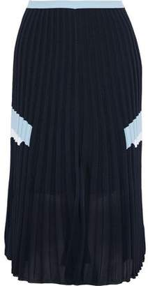 Versace Pleated Stretch-knit Skirt
