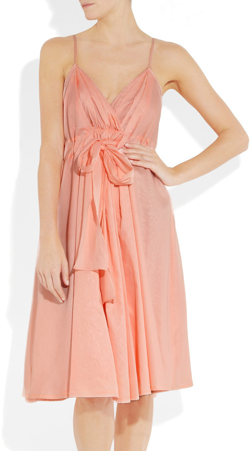 Jil Sander Zenith bow-front cotton-organdy dress