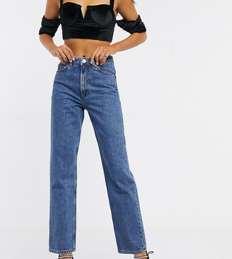 Asos Tall ASOS DESIGN Tall Florence authentic straight leg jeans in vintage midwash blue