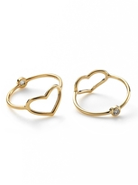 Jordan Askill Gold Heart and Diamond Ring
