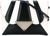 Sara Battaglia 'Tulip' shoulder bag - women - Calf Leather/Polyester/metal - One Size