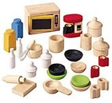 Plan Toys Doll House Accessories For Kitchen With Tableware