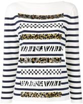 Marc Jacobs boat neck long sleeve jumper - women - Cotton/Polyester/Cashmere - M