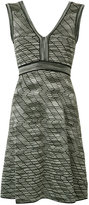 M Missoni V-neck dress - women - Cotton/Polyamide/Viscose/Metallic Fibre - 44