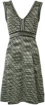 M Missoni V-neck dress - women - Cotton/Polyamide/Viscose/Metallic Fibre - 44