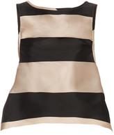 Rochas Bi-colour striped duchess-satin top