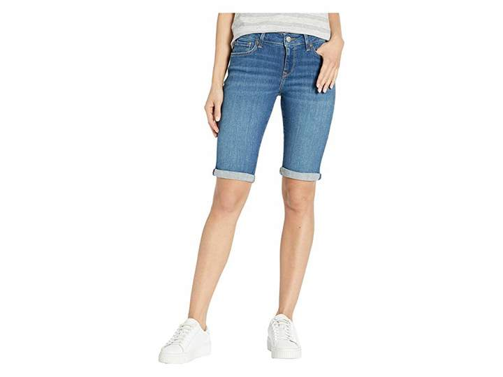 Mavi Jeans Karly Mid-Rise Bermuda in Indigo Shaded Tribeca