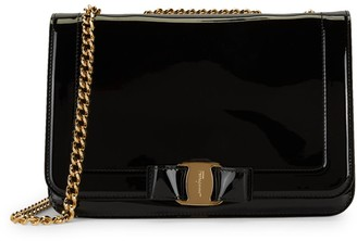 Salvatore Ferragamo Vara Patent Leather Crossbody