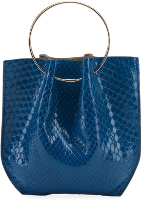 The Row Flat Micro Circle Bag in Python