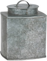 Stonebriar Collection Galvanized Square Metal Container with Lid
