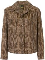 Fendi Pre Owned zebra pattern long sleeve jacket