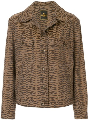 Fendi Pre-Owned Zebra Pattern Long Sleeve Jacket