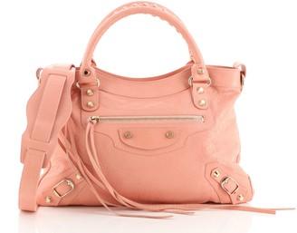 Balenciaga Town Classic Studs Bag Leather