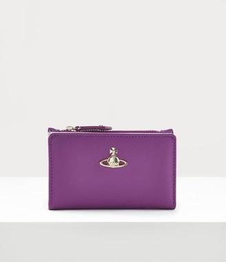 Vivienne Westwood Victoria Slim Flap Card Holder Purple