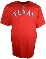 Majestic Men's Big and Tall Texas Rangers Official Wordmark T-Shirt