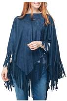 Twos Company Two's Company Blue Suede Poncho