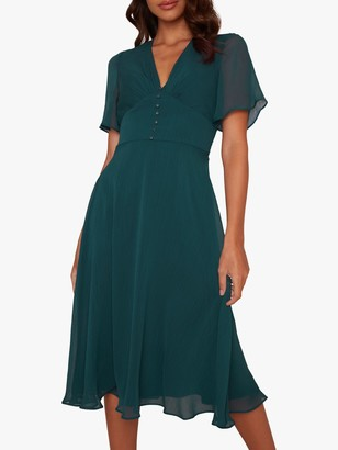 Chi Chi London Oria Dress, Teal