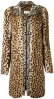 Maison Margiela contrast print coat - women - Cotton/Goat Skin/Rabbit Fur/Viscose - 40
