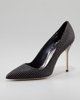 Manolo Blahnik BB Studded Pump, Black