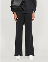 Vince Wide-leg mid-rise wool and cashmere-blend trousers