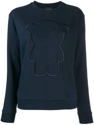 Emporio Armani embroidered bear sweatshirt
