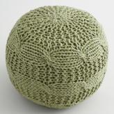Sage Green Sweater Pouf