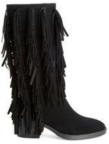 Leather Fringe Boots - ShopStyle