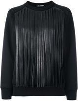 Neil Barrett fringed sweatshirt - women - Cotton/Polyurethane/Viscose - XXS