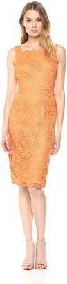 Adrianna Papell Women's Crotchet LACE Sheath Dress