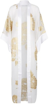 MARIE FRANCE VAN DAMME Floral Sheer Kimono