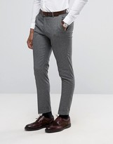 Selected Slim Suit Pants In Salt N Pepper
