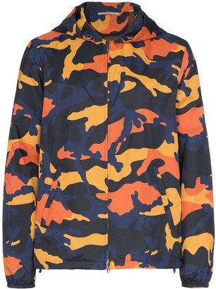 Valentino camouflage-print hooded jacket