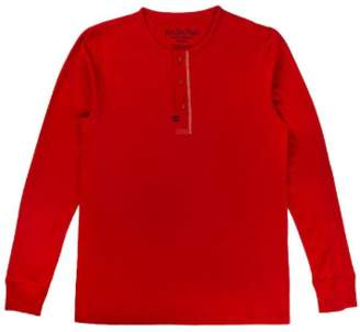 Archie Foal - Chilli Red Gael Henley Top - M / Red - Red