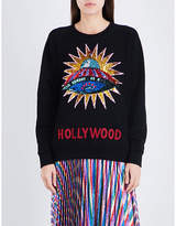 Gucci Sequin-embellished UFO cotton-jersey sweatshirt