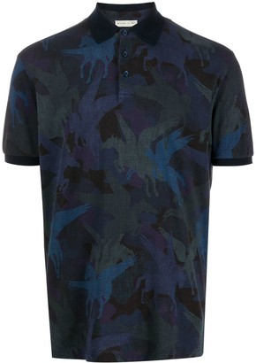 Etro Winged-Horse Print Polo Shirt