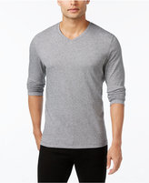 Alfani Men's Jacquard V-Neck Long-Sleeve T-Shirt, Only at Macy's