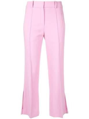 KHAITE cropped side slits trousers