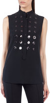 Akris Punto Sleeveless Paillette-Embellished Top