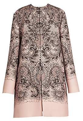Valentino Women's Lace Print Car Coat