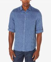 Perry Ellis Men's Big & Tall Linen Blend Shirt