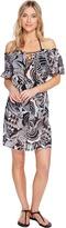 Polo Ralph Lauren Mosaic Print Cotton Dress Cover-Up Women's Swimwear