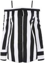 Topshop Humbug stripe reworked bardot shirt
