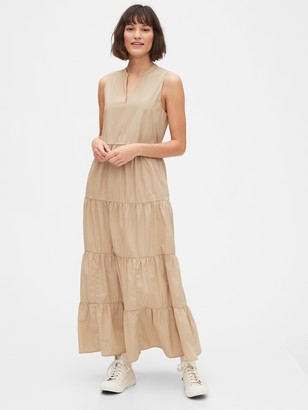 Gap Sleeveless Tiered Maxi Dress