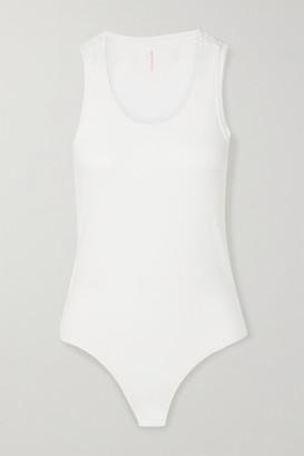 Commando Essential Stretch-cotton Jersey Bodysuit - White