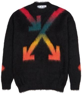 Off-White Black arrows-intarsia jumper