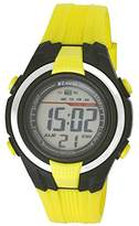 Ravel LCD Digital Water Resistant Sports Boy's Digital Watch with Black Dial Digital Display and Yellow Plastic Strap RDB-15
