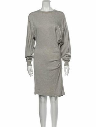 Etoile Isabel Marant Crew Neck Knee-Length Dress Grey