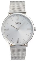 BOSS Men's Slim Jackson Mesh Strap Watch, 40Mm