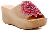 Kork-Ease Noellie Flower Platform Wedge Slide Sandal