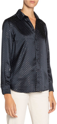 Saint Laurent Studded Satin Shirt